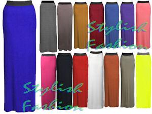 S218-WOMENS-LADIES-PLUS-SIZE-JERSEY-LONG-MAXI-SKIRT-GYPSY-STRETCHY-DRESS-UK-8-26