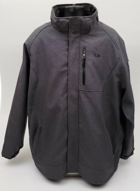 CB Jacket Men's Size 4XL Full Zip Insulated Lined Winter Snow Ski Gray Black