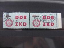 2 Stamps Briefmarken Germany DDR overprint Bln ZKD Ungültig used