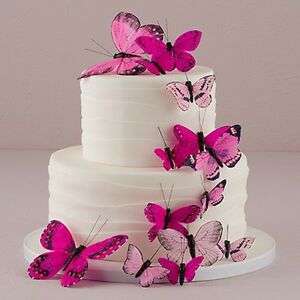 Image Is Loading Romantic Butterfly Hand Painted For Wedding Cake Topper