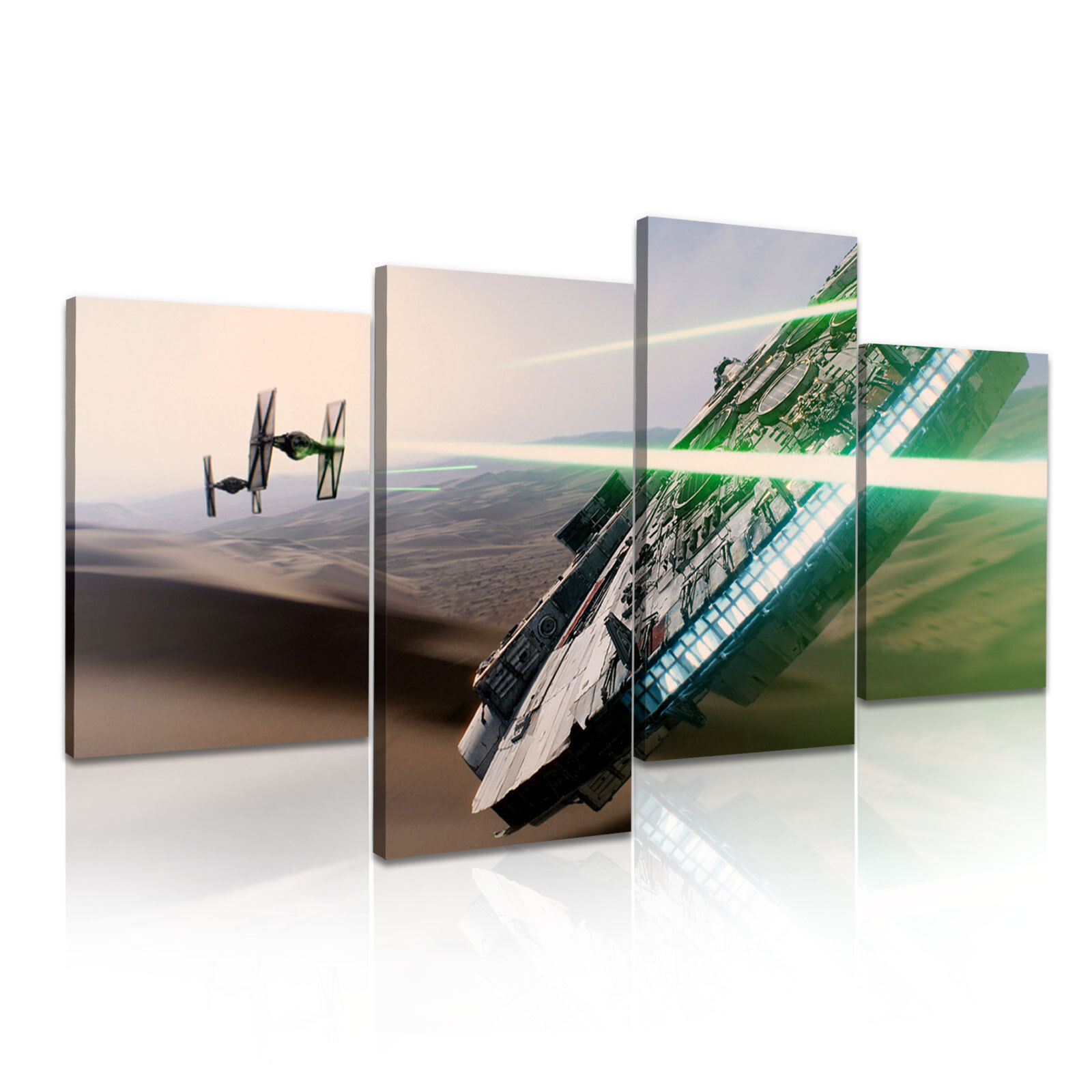 Star Wars Millenium Falcon Stretched Canvas  4 Panels