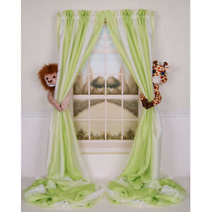 CURTAIN-CRITTERS-CHIC-MOD-JUNGLE-SAFARI-ZOO-LION-AND-GIRAFFE-CURTAIN-TIEBACK-SET