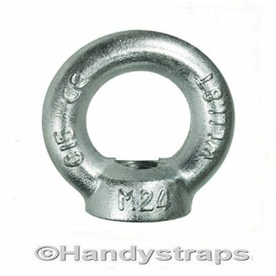 Lifting Eye Nut 8mm 0.14 Ton Bright Zinc Plated Towing Nut Handy Straps