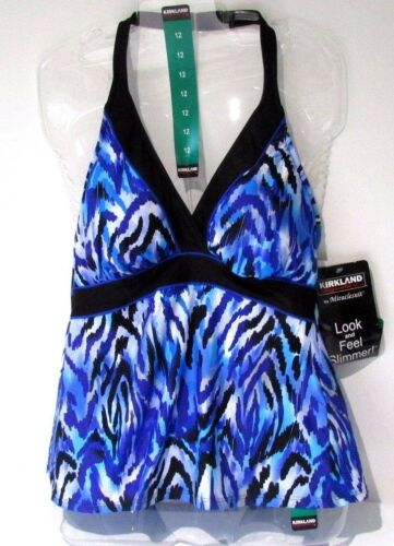 feroce Blu UK 10 Costume da bagno Kirkland Miraclesuit dietro il collo Tankini Top