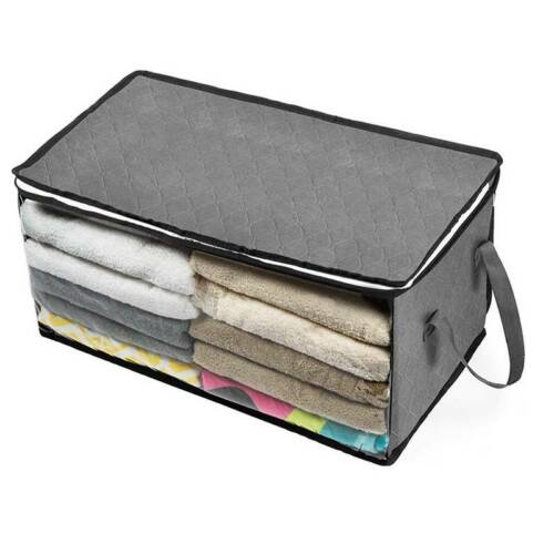 Foldable Storage Bag Clothes Blanket Quilt Organizer Home Closet Box Pouch Tidy