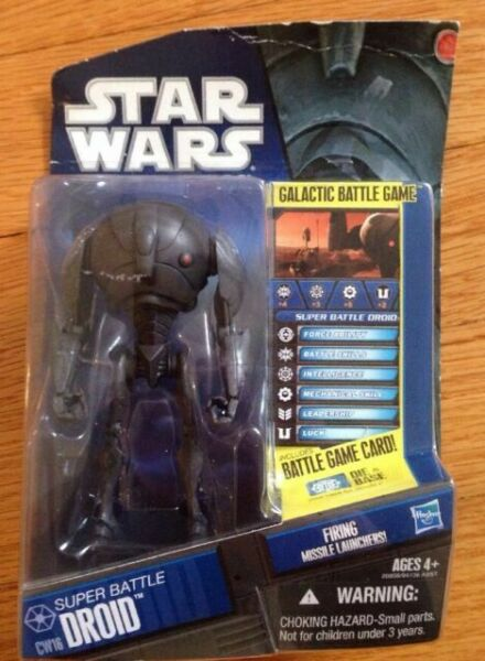 STAR WARS TCW clone wars No.12 Cw16 Super Battle Droid Loose complet