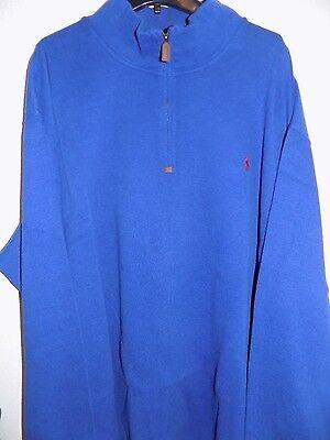 NWT Polo Ralph Lauren ROYAL BLUE French Rib 1/2 Zip Mockneck Sweatshirt Big&Tall
