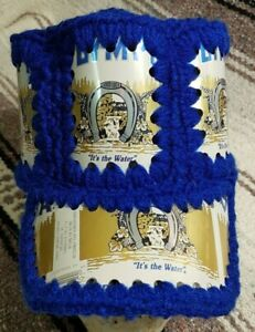 Vintage-70s-OLYMPIA-Beer-Can-Hat-Crochet-Knit-Retro-Handmade-Hipster
