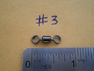 "250 PCS. BLACK NICKEL ROLLING SWIVEL SIZE #3, 3/4""X1/4"" EYE, 100 LBS. TEST."