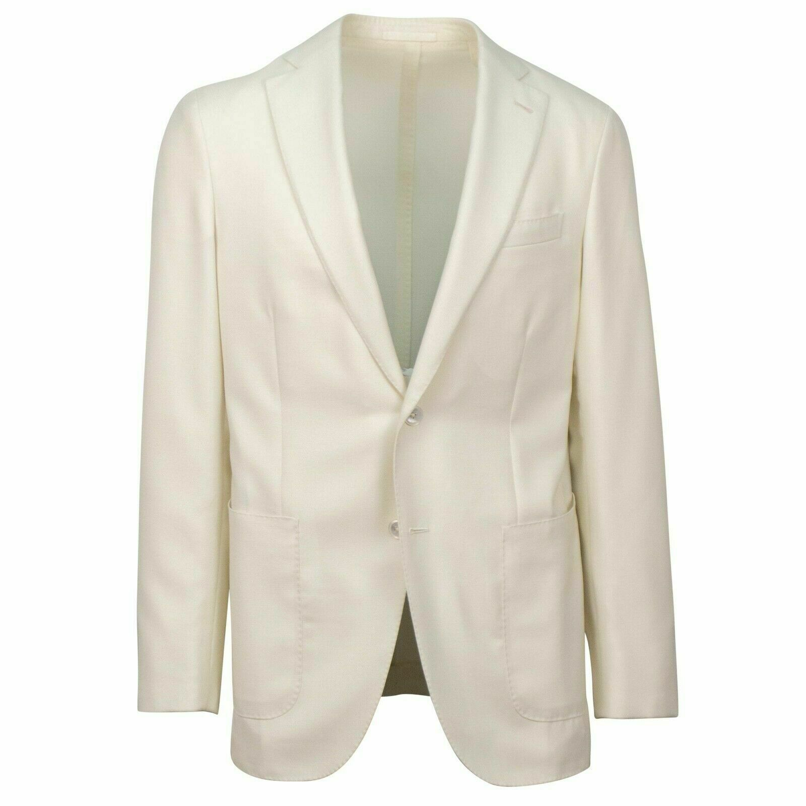 NWT CARUSO Ivory wolle2 Button Sport Coat 50 40 R Drop 8