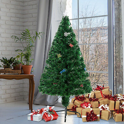 HOMCOM Tannenbaum Weihnachtsbaum Christbaum LED 16 glitzernde Dekos 120cm Stern