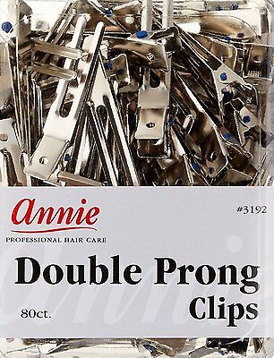 Annie 12 Duck Bill Clips Hair Wave Alligator Clamps Prong Metal Accessory #3195