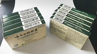 NEW Authentic 5 Boxes Yunnan YNBY Baiyao 5x16=80 Capsules First Aid US SHIPPING