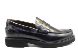 Scarpe-da-uomo-Nero-Giardini-P901140U-mocassino-eleganti-blu-vera-pelle-oxford