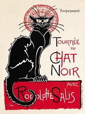 Chat Noir French Black Cat Shabby Chic Art Deco Kitchen Novelty Fridge Magnet