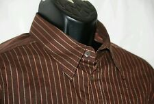 MENs Dolce & Gabbana shirt Slim fit 40 54 brown striped shirt Made in Italy