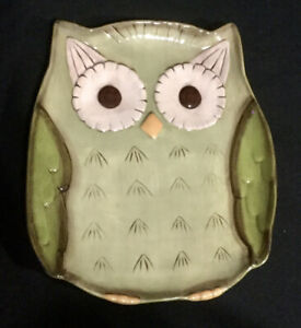 Grasslands Road Olive Dish with Owl