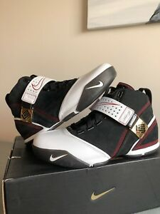 787249ec39ce Nike Zoom Lebron V 5 Black White Varsity Crimson Red Size 9 Original ...