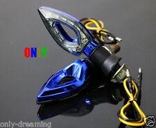 Blue Motorcycle LED Turn Signals Indicator Blinker Brake Light Flasher Dirt Bike