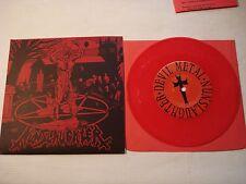 "NunSlaughter / Crucifier 7"" record DEVIL METAL red vinyl 1998 DEATH METAL RARE"