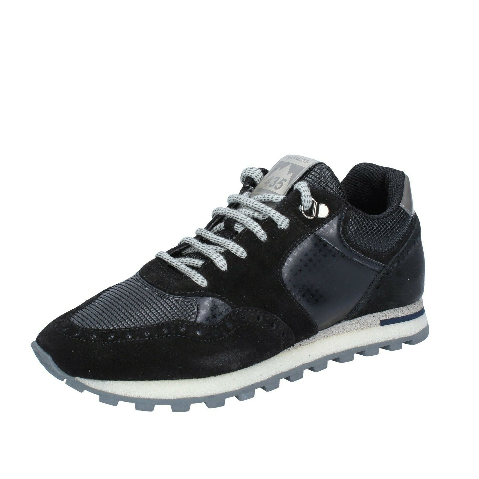 Mens shoes BRIMARTS 7 (EU 41) sneakers black suede leather BS334-41
