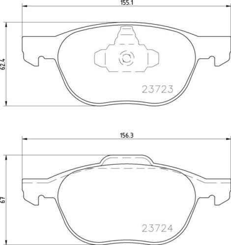 REAL IMAGE OF PART MINTEX FRONT BRAKE SET DISCS PADS FOR VOLVO FORD MDK0217
