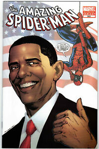 AMAZING-SPIDER-MAN-583-BARACK-OBAMA-4TH-PRINTING-VARIANT-MARVEL-COMICS-2009-HOT