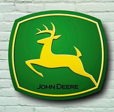JOHN DEERE LOGO 2FT GARAGE SIGN WALL PLAQUE WORKSHOP TRACTOR LAWN MOWER