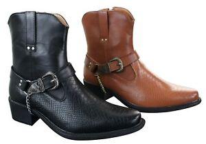 blanc noir style marron Bottes boucle western Détails cowboy serpent homme simili cuir sur VSMpqGUz