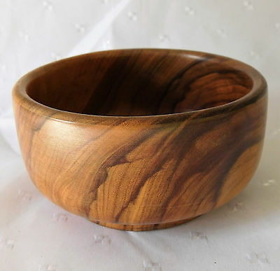 Vintage Spanish olive wood bowl Oliv-Art wooden pot for trinkets sweets coins