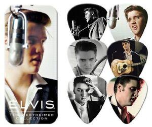 Dunlop-Elvis-Presley-6-mediators-de-guitare-de-la-collection-Wethheimer