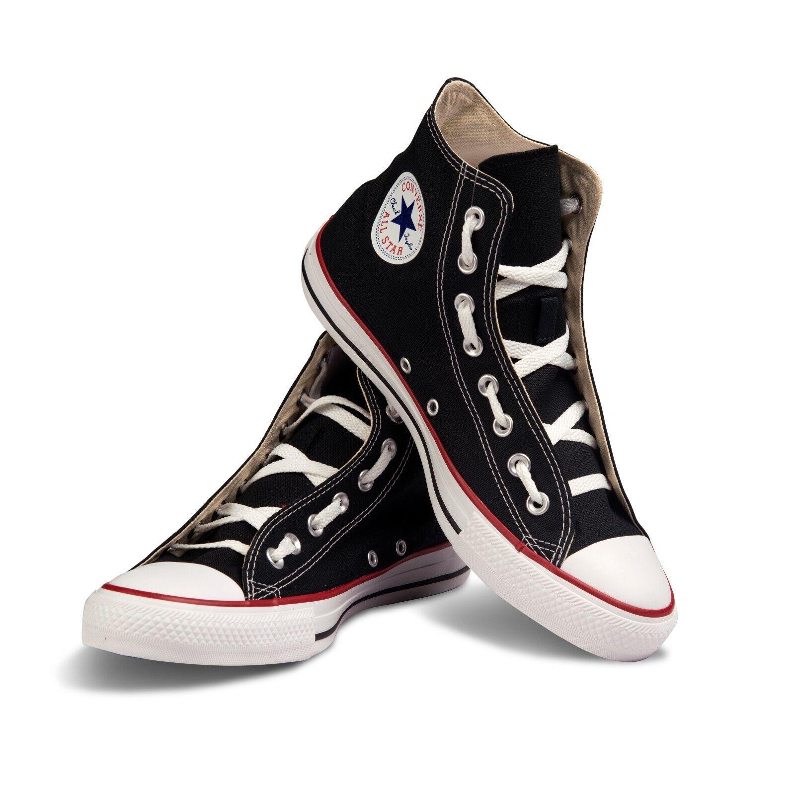 Converse Unisex Schwarz Chuck Taylor klassisch Hi Leinen Freizeit Sneakers OX
