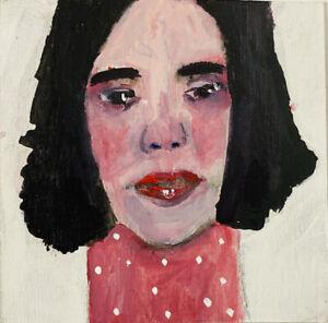 Original Outsider Art Figure Painting Buckle Up Katie Jeanne Wood