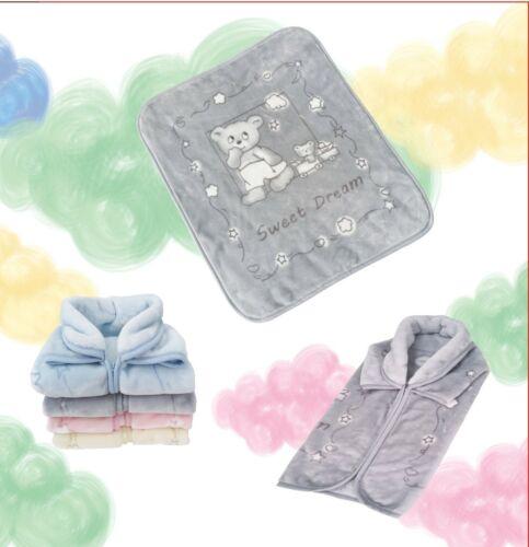 Nouveau-Né Polaire Douce Couverture Bébé Infant boygirl Wrap Chaud Sac De Couchage Rose Bleu