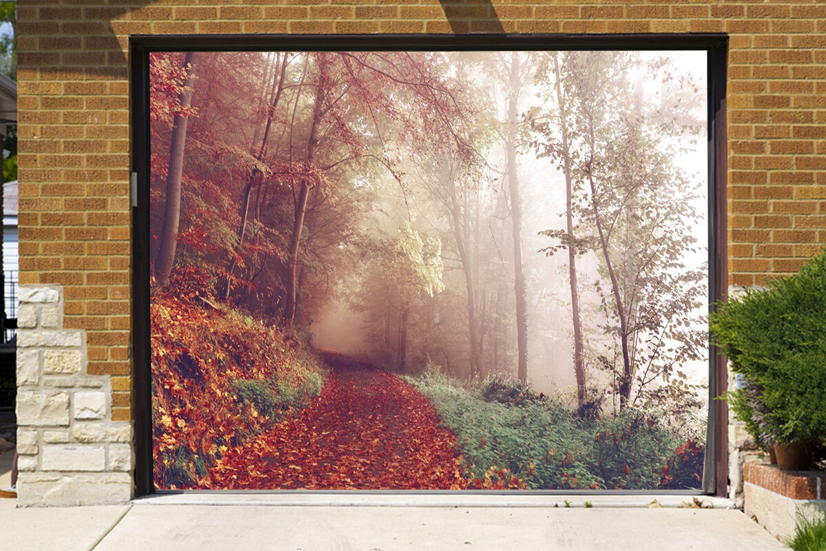 3D Foggy Forest 56 Garage Door Murals Wall Print Decal Wall Deco AJ WALLPAPER IE