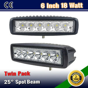 2PCS-6INCH-18W-SLIM-SPOT-FLOOD-DRIVING-OFFROAD-FOG-WORK-LIGHT-BAR-WD-36W-126W