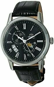 Orient Men's Sun and Moon Version 3 Automatic Watch Leather Calfskin FAK00004B0