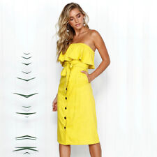 c16f7541b576 item 8 UK Womens Off Shoulder Bardot Midi Dress Ladies Summer Ruffle Belted Frill  Dress -UK Womens Off Shoulder Bardot Midi Dress Ladies Summer Ruffle ...