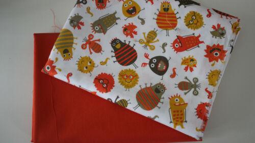 uni Orange Eco-Tex de toalla 2 x 50 x 140//150 monstruo virus