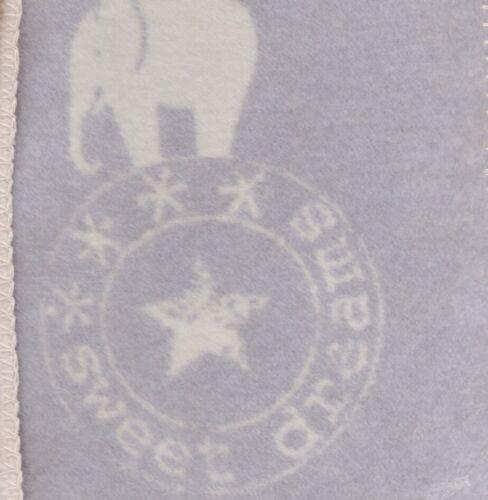 "David Fussenegger Babydecke Panda /""Stempel//Elefant/"" 75 x 100 cm 2184//"
