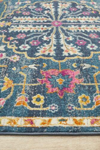Oriental Rugs Navy Elegant Floor Cover Carpet Mat Thick Pile Decor Luxury