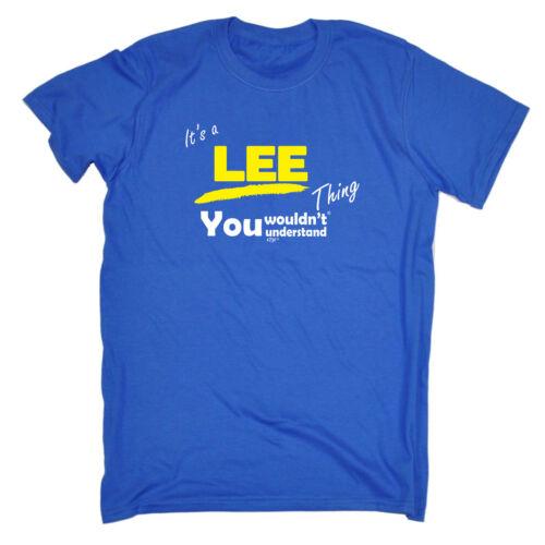 Lee V1 Surname Thing Funny Novelty T-Shirt Mens tee TShirt