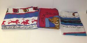 Set of 2 Vintage Lion King handmade long pillowcases