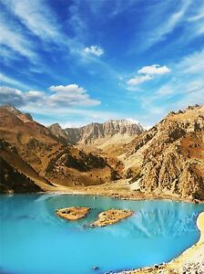 ART-PRINT-POSTER-PHOTO-LANDSCAPE-MOUNTAIN-LAKE-CLEAR-WATER-BLUE-LFMP1227