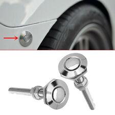 2x Push Button Quick Release Hood Bonnet Pins Lock Clip Car Bumper Latch Parts