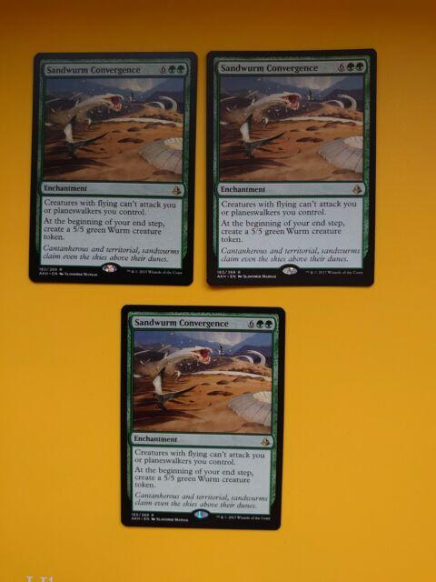 MTG Card. Sandwurm Convergence x3. Amonkhet Enchantmenrt