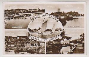 Dorset / Hants Postkarte - Grüße Aus Christ Church (Mehrfach-Ansicht) (A13)