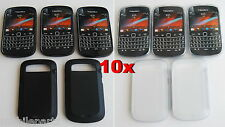10 x Genuine BlackBerry Soft Shell Cover Skin for Bold 9900 5 x Clear 5 x Black