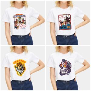 Fashion-Summer-Devil-Print-T-Shirt-White-Short-Sleeve-Casual-Tees-Soft-Tops