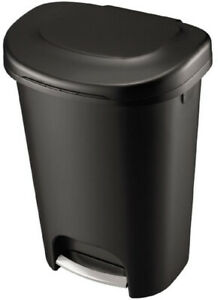 Details About 13 Gallon Trash Can 52 Quart Pedal Liner Lock Tall Kitchen Waste Lid Hands Free